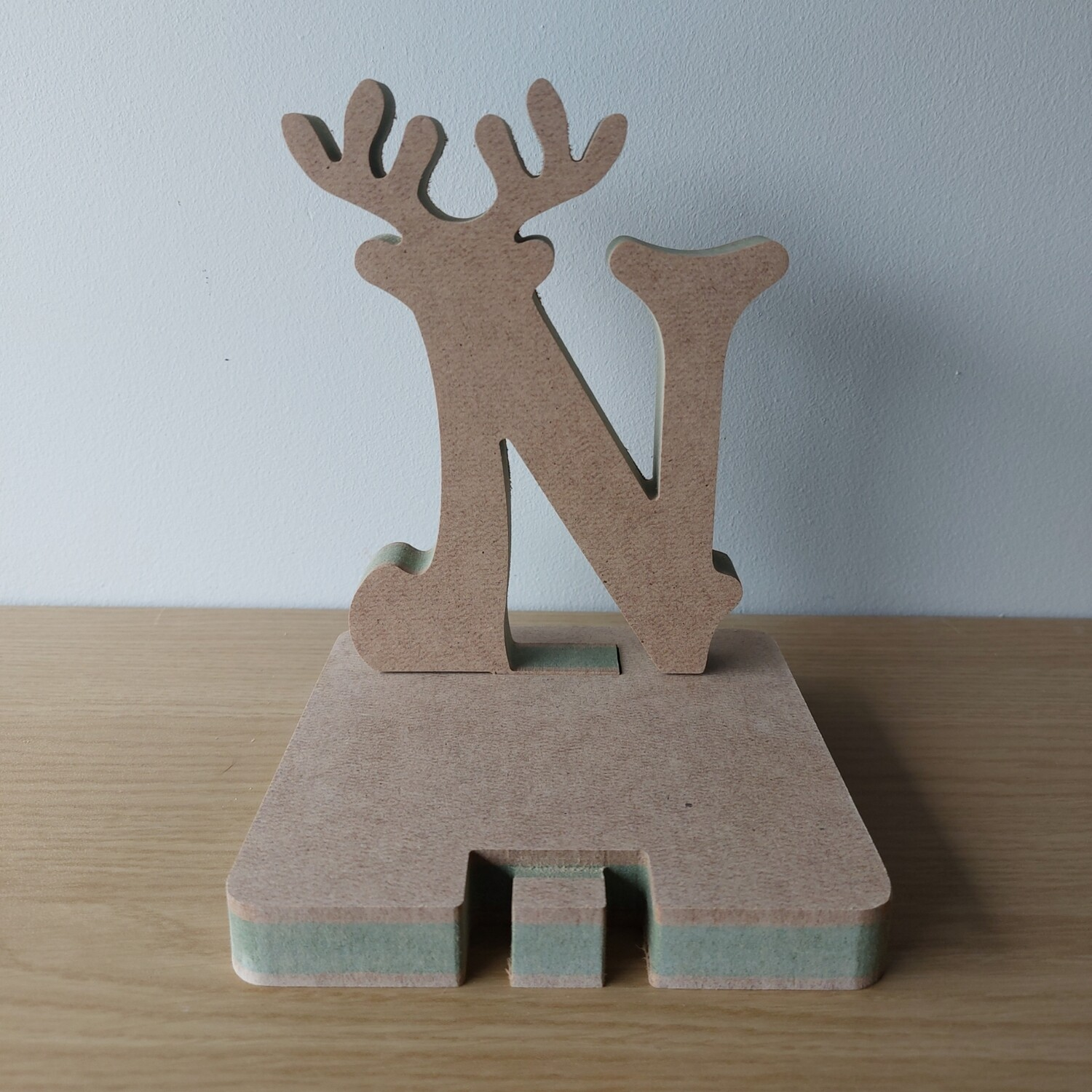 Stocking Holder - Initial with Antler 18mm