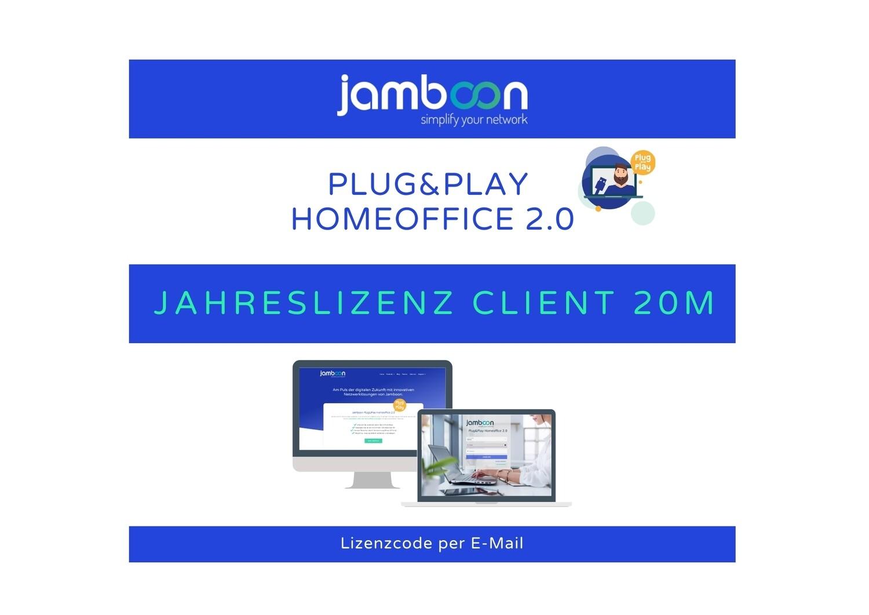 Jamboon Plug&Play Homeoffice 2.0 - Jahreslizenz Client 20M