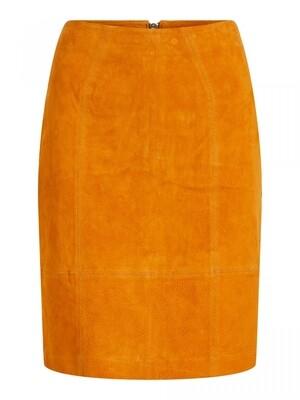 VIFAITH HW SUEDE SLIT SKIRT Pumpkin Spice