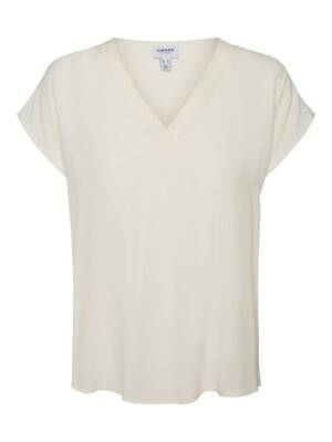 VMZAKYNTHOS CAP SLEEVE V-NECK TOP VMA Birch