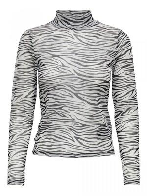 ONLSOPHIA L/S MESH TOP JRS Black/zebra