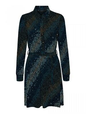 VMBIBI LS BLK SHIRT DRESS JRS Black