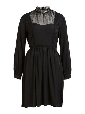OBJCLEA L/S DRESS A WI Black