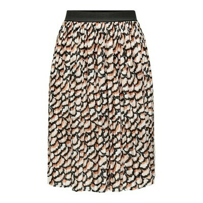 JDYBOA AOP SKIRT JRS Black/FLOWER LEAF