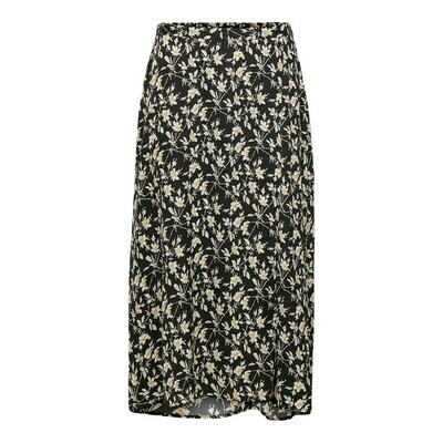 JDYROCK ABOVECALF SKIRT WVN Black