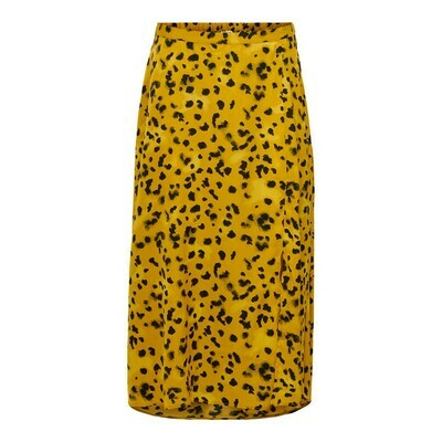 JDYROCK ABOVECALF SKIRT WVN Harvest Gold/W CLOUD