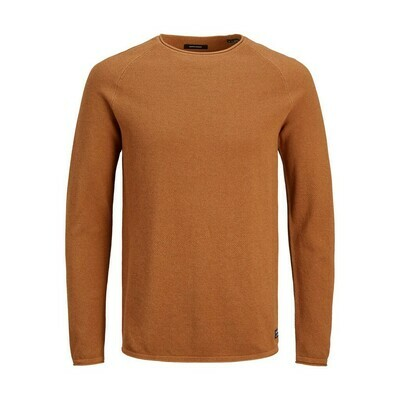 JJE HILL KNIT CREW NECK NOOS Umber/Twisted with m