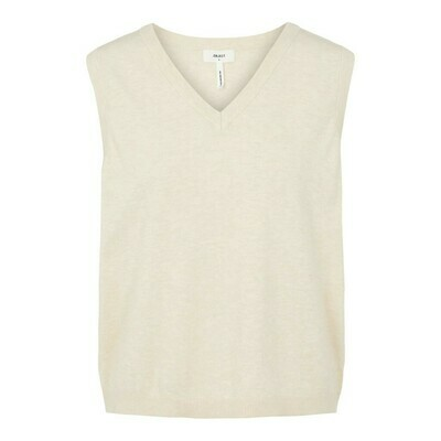 OBJECT THESS S/L KNIT WAISTCOAT NOS  Sandshell/AOP