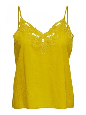 ONLSIXTY SL BRODERI ANGLAIS TOP FANCY ceylon yellow