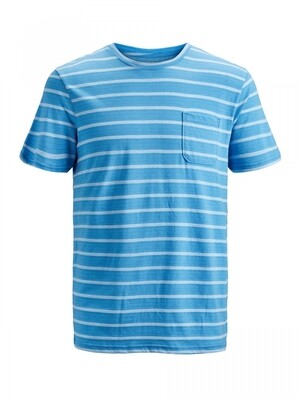 JCOKLARK TEE SS CREW NECK Azure Blue/SLIM