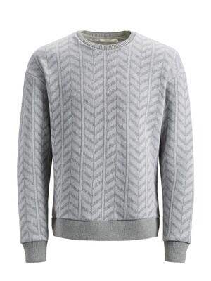 JPRTRICOT SWEAT LS CREW NECK Light Grey Melange