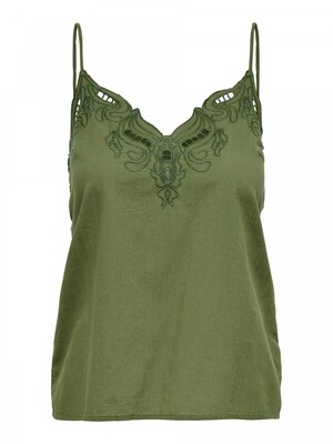 ONLSIXTY SL BRODERI ANGLAIS TOP FANCY Martini Olive