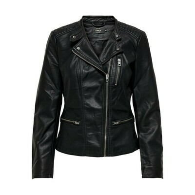 ONLFREYA FAUX LEATHER BIKER OTW NOOS Blac