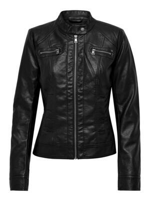ONLBANDIT FAUX LEATHER BIKER OTW NOOS Black