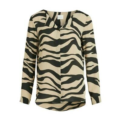 Vila blouse lucy Humus/ZEBRA