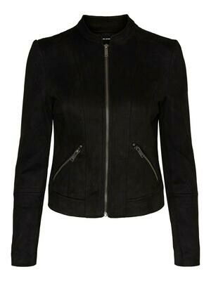 VMSUMMERSIV FAUX SUEDE SHORT JACKET NOOS Black