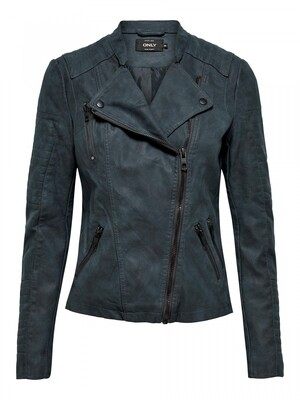 ONLAVA FAUX LEATHER BIKER OTW NOOS Dark Navy