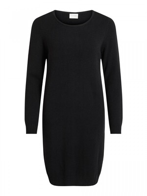 VIRIL L/S KNIT DRESS - NOOS Black