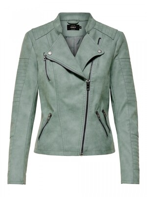 ONLAVA FAUX LEATHER BIKER OTW NOOS Chinois Green