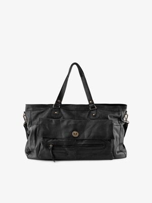 PCTOTALLY ROYAL LEATHER TRAVEL BAG NOOS Black
