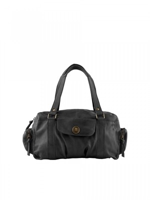 PCTOTALLY ROYAL LEATHER SMALL BAG Black
