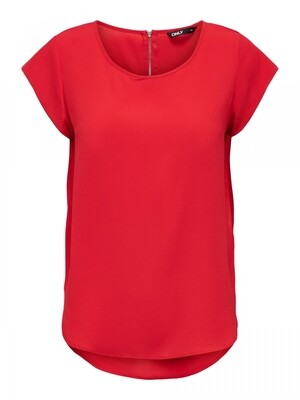 ONLVIC S/S SOLID TOP NOOS WVN High-Risk Red