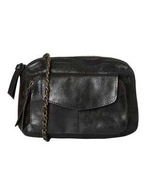 PCNAINA LEATHER CROSS OVER NOOS Black