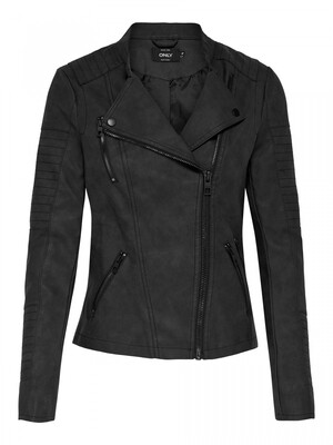 ONLAVA FAUX LEATHER BIKER OTW NOOS Black