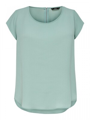 ONLVIC S/S SOLID TOP NOOS WVN Blue Surf
