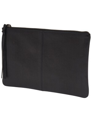 onlBUST LEATHER CLUTCH ACC Black