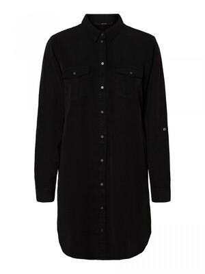 VMSILLA LS SHORT DRESS BLCK GA NOOS Black