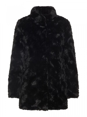 VMCURL HIGH NECK FAUX FUR JACKET NOOS Black