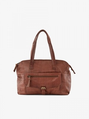 PCABBY LEATHER TRAVEL BAG Mocca