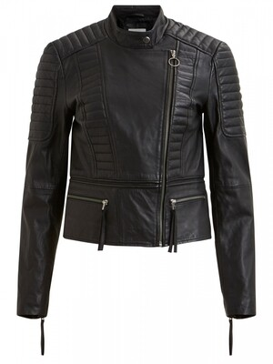 OBJRAKE LEATHER JACKET NOOS Black