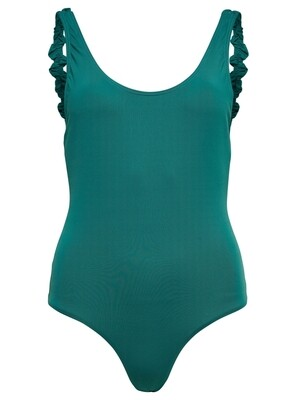 ONLNICOLE FRILL SWIMSUIT ACC Teal green