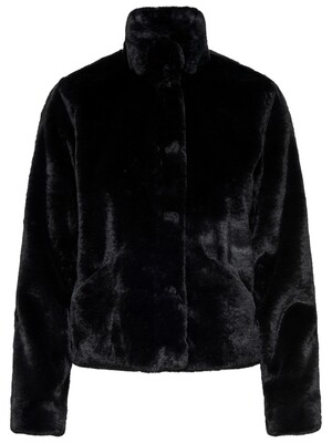 ONLVIDA FAUX FUR JACKET OTW NOOS Black