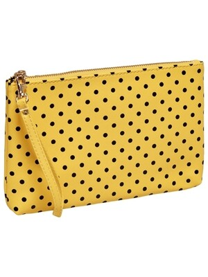 onlROBIN DOTTED CLUTCH ACC Spiced Coral