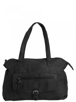 PCABBY LEATHER BAG Black