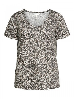 OBJTESSI SLUB S/S V-NECK NOOS Incense/SMALL LEO