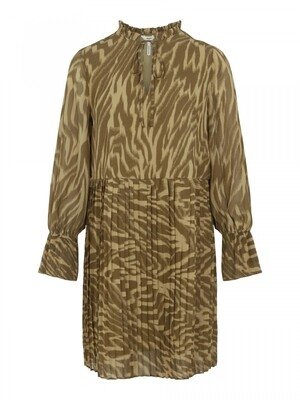 OBJZANIA L/S DRESS 113 Khaki/ANIMAL