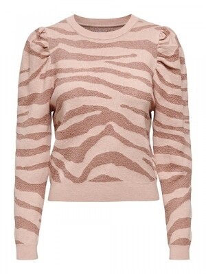 ONLCERIE L/S PULLOVER CC KNT Seashell Pink/GILDED