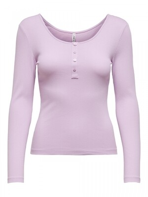 ONLSIMPLE LIFE L/S BUTTON TOP JRS Orchid Bloom
