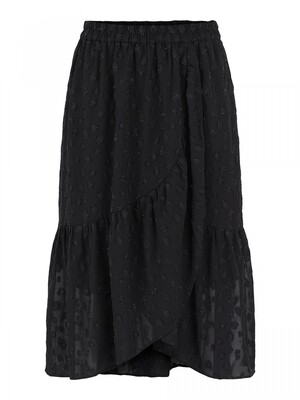 PCPERSILLA HW MIDI SKIRT D2D DMO Black