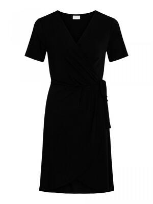 VINAYELI S/S KNEE WRAP DRESS/SU - NOOS Black