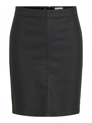 OBJBELLE MW SUPERCOATED SKIRT NOOS Black