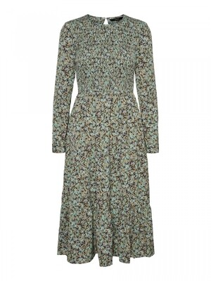 VMSOFFY L/S SMOCK 7/8 DRESS EXP Hedge Green/ARIEL