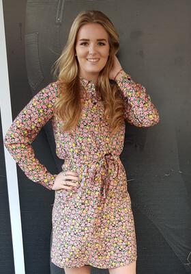 VMELLIE L/S SHORT DRESS WVN Geranium Pink/ELLIE