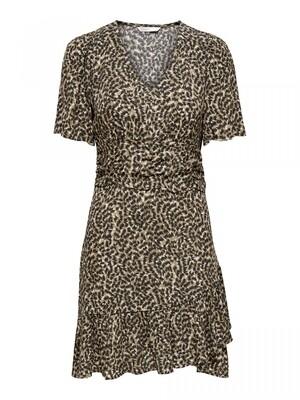 ONLANNEMONE S/S SHORT DRESS WVN Pumice Stone