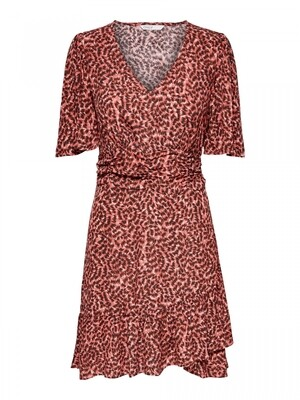 ONLANNEMONE S/S SHORT DRESS WVN Faded Rose/SUNSET GR