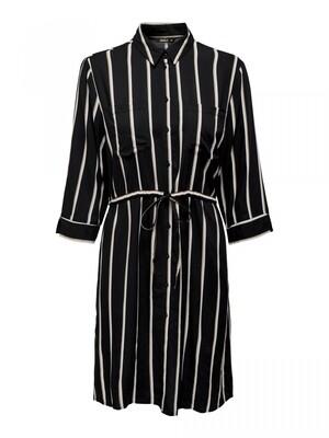 ONLTAMARI 3/4 SHIRT DRESS WVN NOOS Black